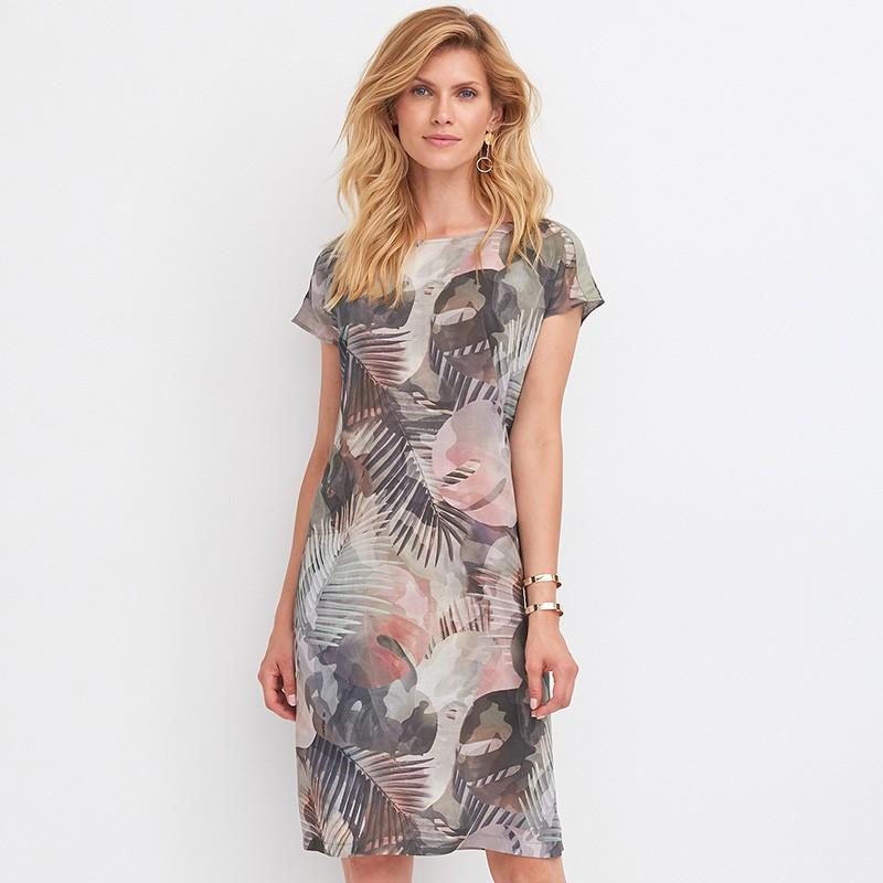b49f5f9c1b042a sukienka Feria FD206-2-36 moro zielona rozmiar 38 40 42 44 46 48