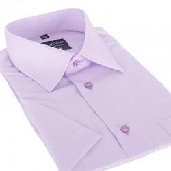 Wizytowa jasnofioletowa koszula Comen krótki rękaw slim 39 40 41 42 43
