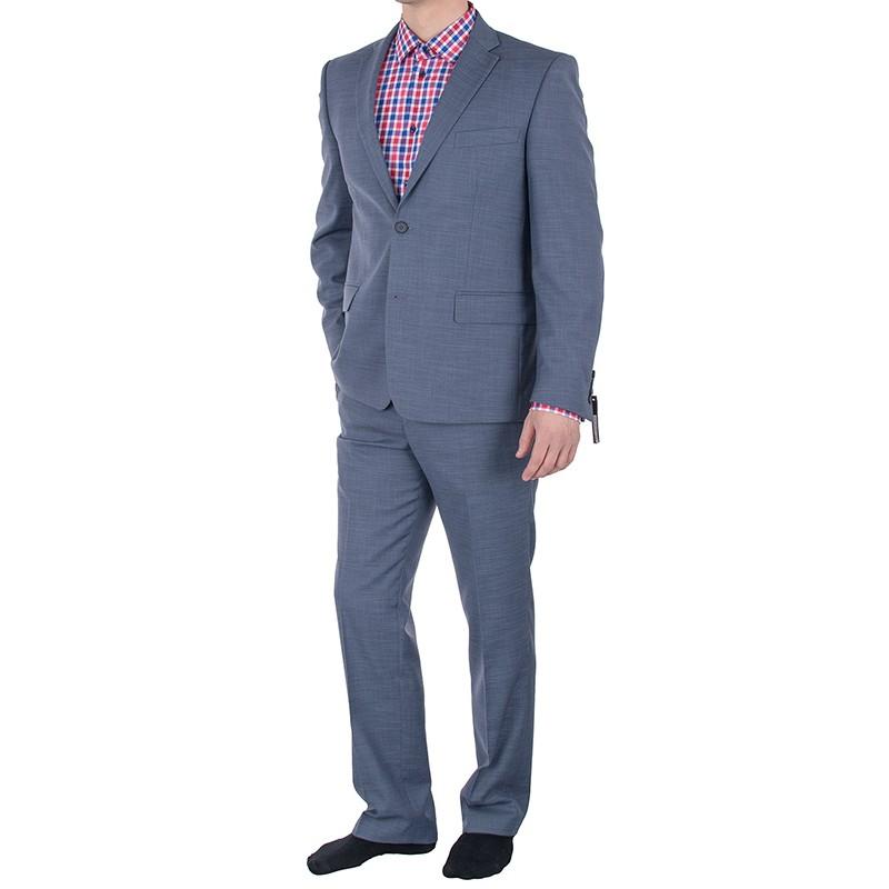 Niebieski garnitur wełniany Lord T-284