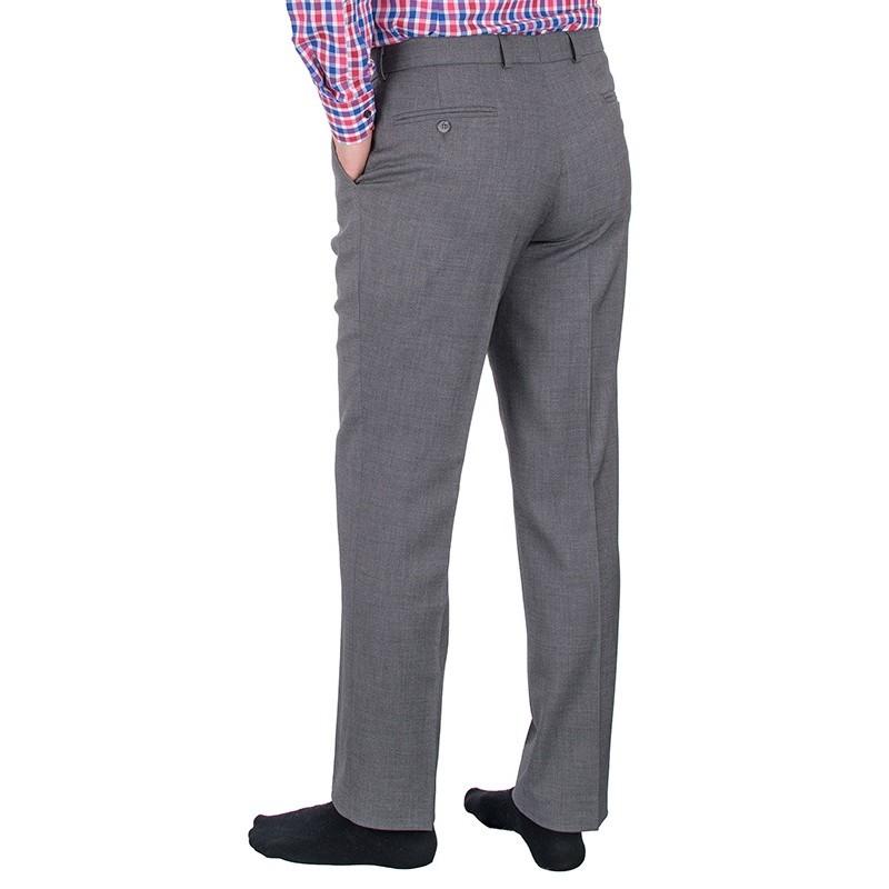 Szare proste spodnie wizytowe w kant Lord