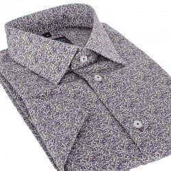 Koszula krótki rękaw Comen slim wzór w kwiaty 39 40 41 42 43 44 45 46