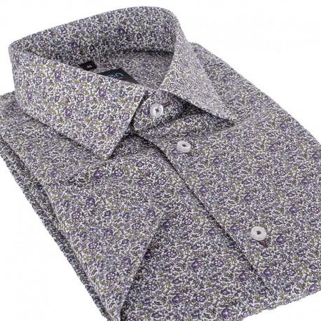 Unikatowa koszula męska z krótkim rękawem floral | Sklep