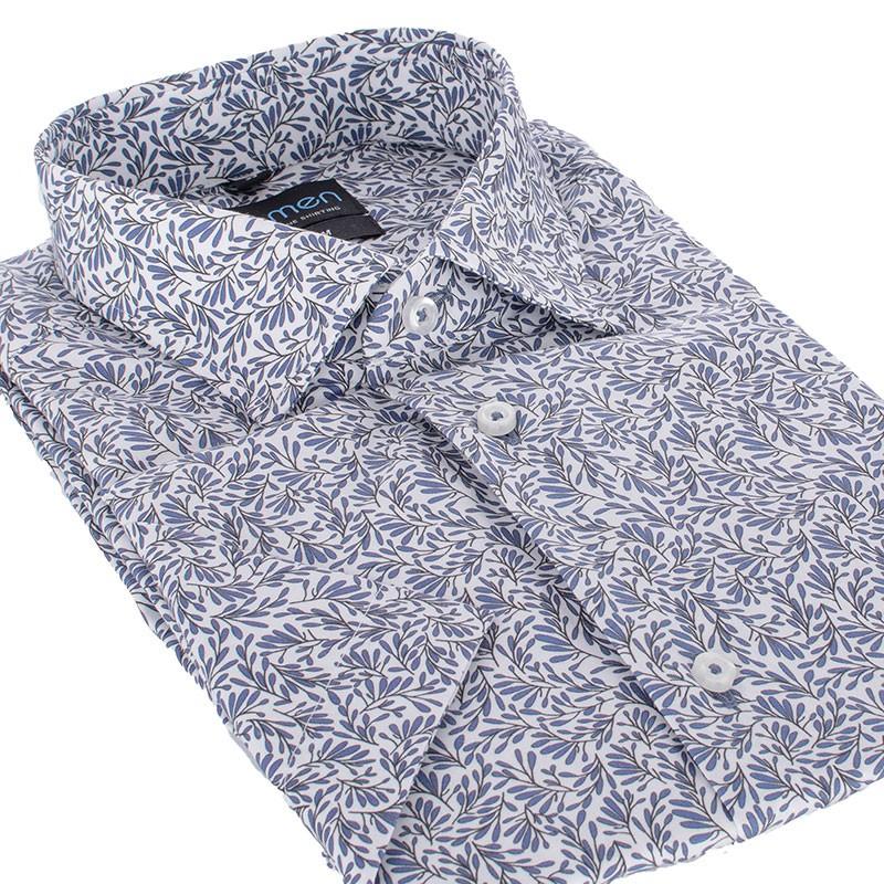 Koszula krótki rękaw Comen slim wzorek