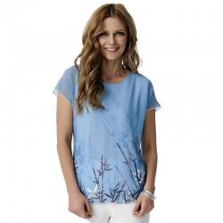 bluzka Sunwear Y07-2-15 tiul niebieska rozmiar 38 40 42 44 48
