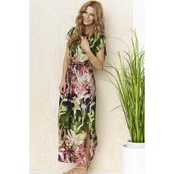 sukienka Sunwear YS209-2-36 różowo zielona rozmiar 38 40 42 44 46