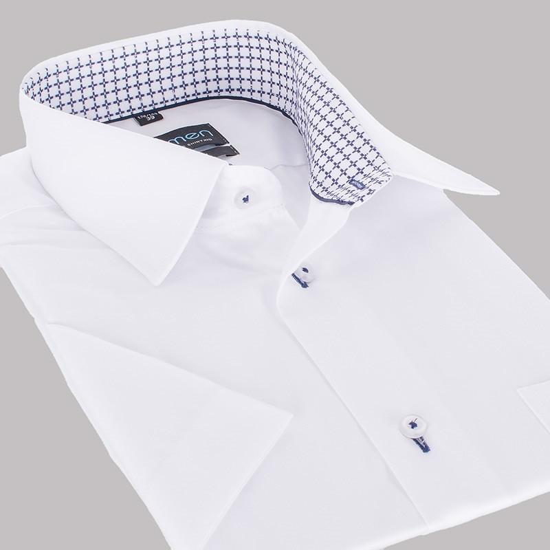 Biała koszula regular Comen kr. rękaw 39 40 41 42 43 44 45  zWwlm