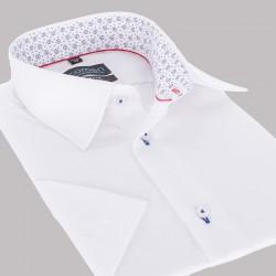 Biała koszula wizytowa Comen z krótkim rękawem slim 39 40 41 42 44 45