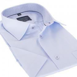 Niebieska koszula Comen krótki rękaw slim 39 40 41 42 43 44 45 46