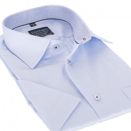 Niebieska koszula Comen z krótkim rękawem slim