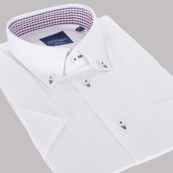 Biała koszula Comen slim krótki rękaw roz. 39 40 41 42 43 44 45 46
