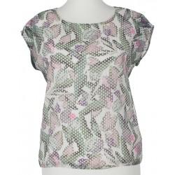 bluzka damska z wzorkiem Sunwear Y40-2-36 khaki rozmiar 40 42 44 46 48