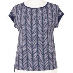 bluzka Sunwear Y19-2-30 jodełka niebieska rozmiar 38 40 42 44 46 48