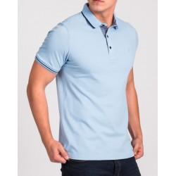 Błękitna koszulka polo Repablo Simon 1907-7 roz. M L XL 2XL 3XL 4XL