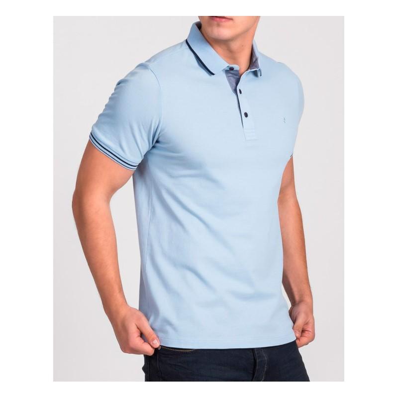 Błękitna koszulka polo Repablo Simon 1907-7