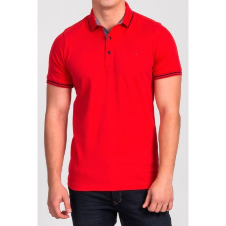 Czerwona koszulka polo Repablo Simon 1907-6