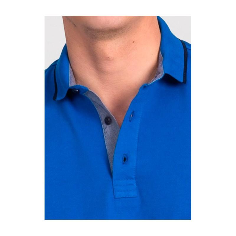 Koszulka polo Repablo Simon 1907-8 niebieski morski