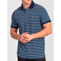 Granatowa koszulka polo Repablo Joe 1905-1 w paski M L XL 2XL 3XL 4XL