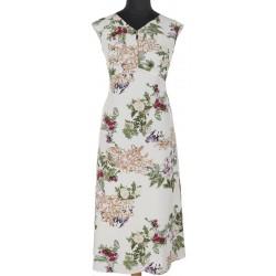 sukienka Modena Styl Temida w kwiaty ekri rozmiar 38 42 44 46