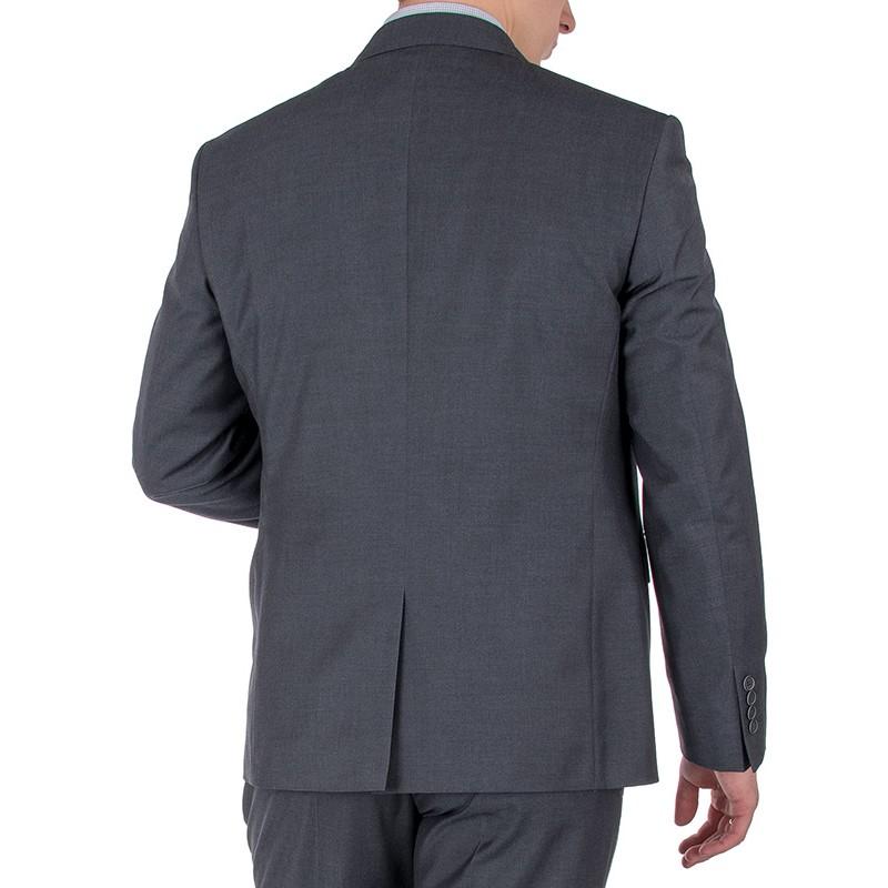 Grafitowy garnitur wełniany Lord