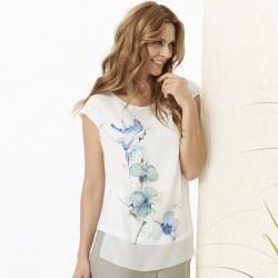 bluzka bez rękawków Sunwear Y11-2-90 ecru rozmiar 42 44 46