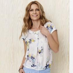 bluzka w kwiatki Sunwear Y22-2-08 ekrii rozmiar 40 42 44 46 48