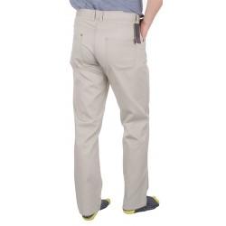 Jasne spodnie bawełniane Lord R-5 koloru kremowego rozmiar 82-114 cm