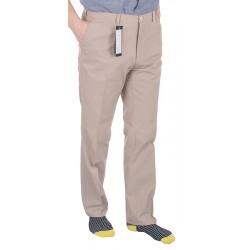 Szerokie spodnie z bawełny typu chinos Lord R-28 beżowe roz. 82–110 cm