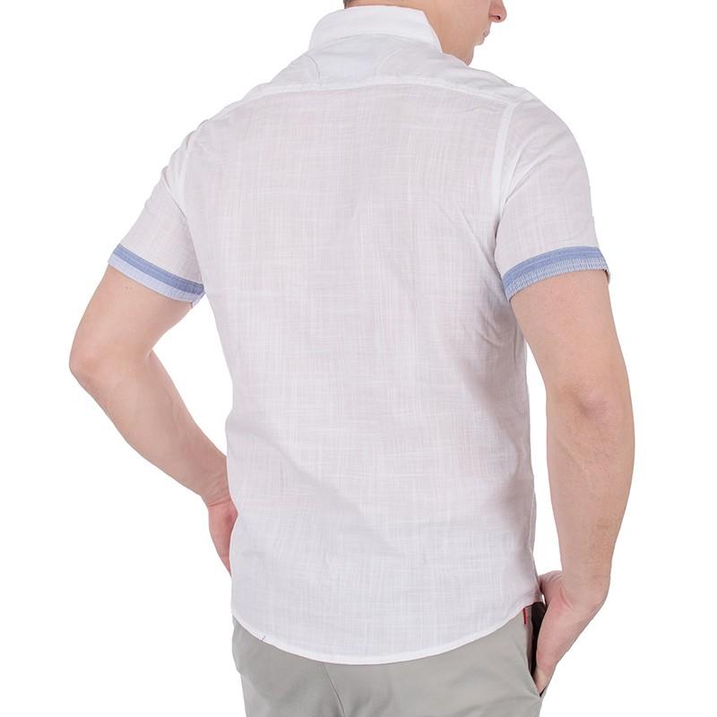 Biała koszula z krótkim rękawem Pako KMKR 1 ANSINA
