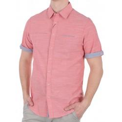 Łososiowa koszula Pako KMKR 7 Time krótki rękaw