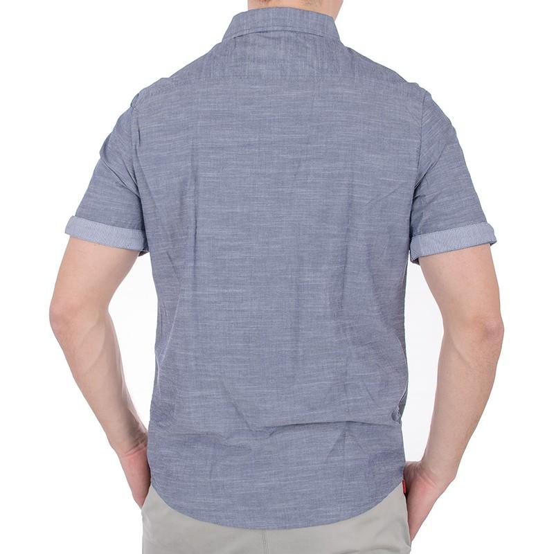 Szaro-jeansowa koszula krótki rękaw Pako KMKR 7 Time bawełna