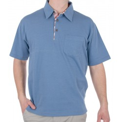 Niebiesko-jeansowa koszulka polo Kings 300*312901 M L XL 2XL 3XL 4XL