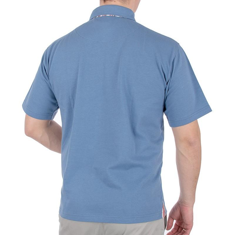 Niebiesko-jeansowa koszulka polo Kings 312901