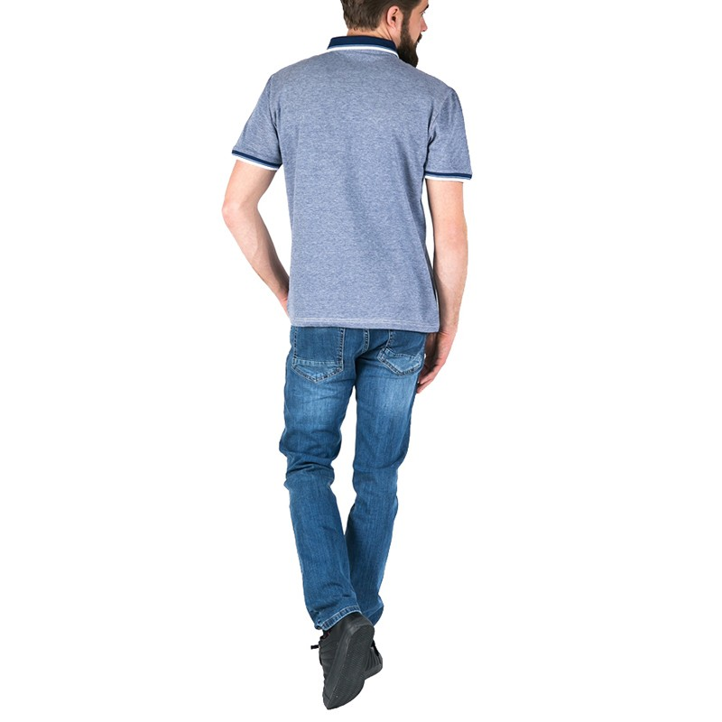 Niebieska koszulka Pako Jeans Polo Logic