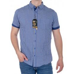 Koszula Pako KMKR 3 reboledo - niebieska kratka, krótki rękaw