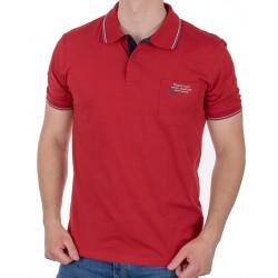 Czerwona koszulka polo Pako Jeans TM Rich z kieszenią M L XL 2XL 3XL