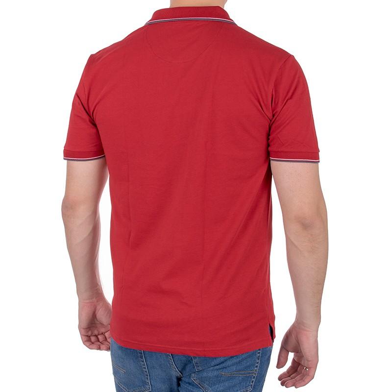 Czerwone polo męskie Pako Jeans TM polo Rich kr. rękaw