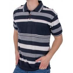 Granatowa koszulka polo w paski Kings Elkjaer 822 345 M L XL 2XL 3XL