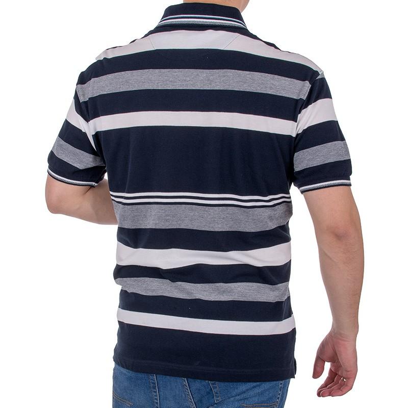 Koszulka polo Kings Elkjaer 822 345 granatowa w paski