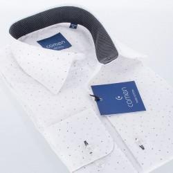 Biała koszula 100% bawełna Comen slim wzór r. 39 40 41 42 43 44 45 46