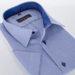 Granatowa koszula Comen z kr. rękawem r. 39 40 41 42 43 44 45 46 48 50