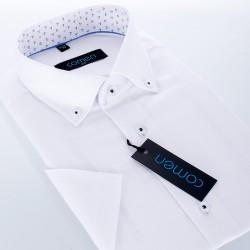 Biała koszula krótki rękaw Comen slim r. 39 40 41 42 43 44 45 46 48 50