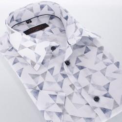 Koszula z krótkim rękawem Comen slim ze wzorem 39 40 41 42 43 44 46