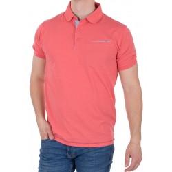 Koralowa koszulka polo Tris Line 1920 z kieszenią M L XL 2XL 3XL 4XL