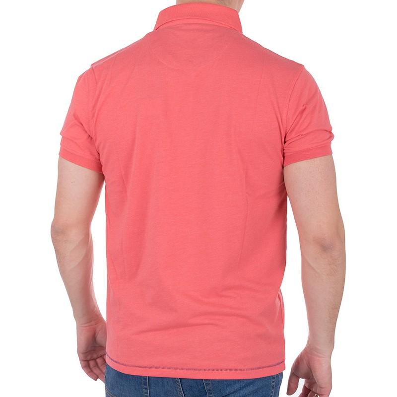 Koralowa koszulka polo Tris Line 1920