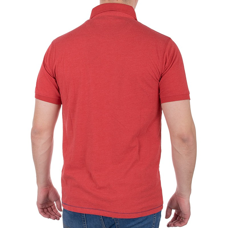 Czerwona koszulka polo Tris Line 1920 z kieszenią