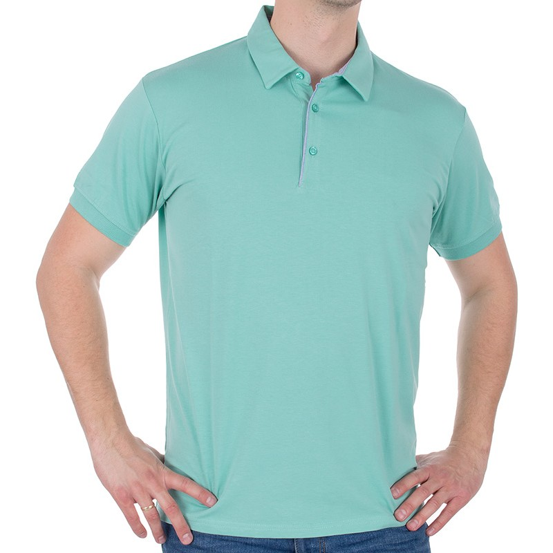 Miętowa koszulka polo Tris Line 1922