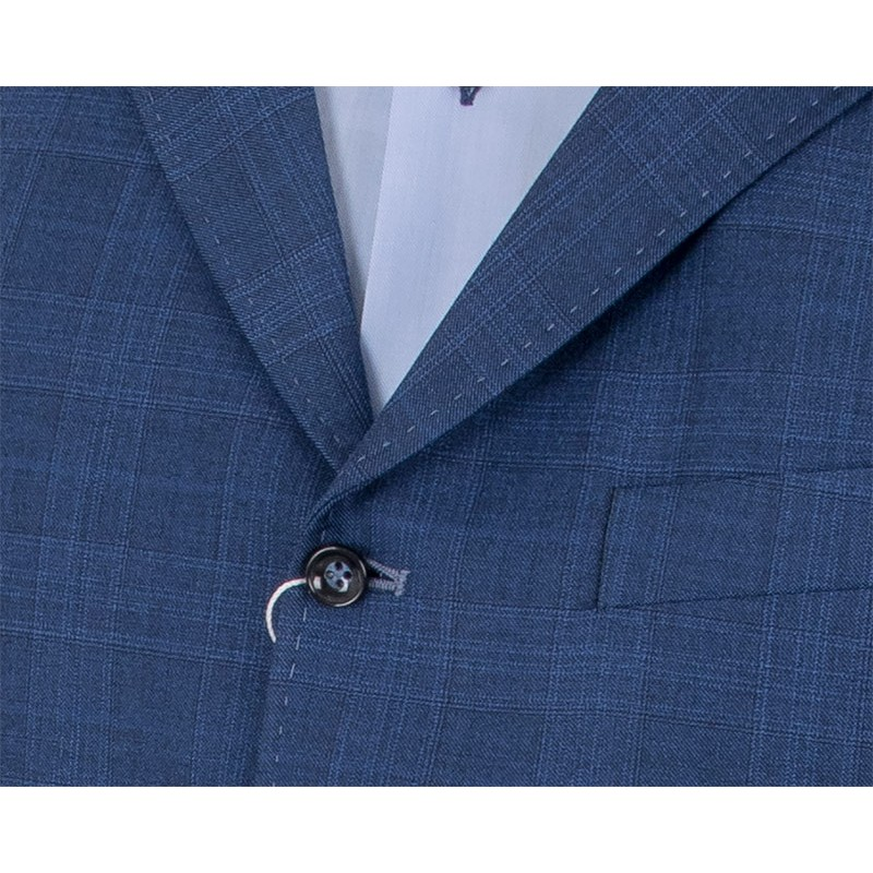 Niebieska kamizelka w kratkę Elfa Silvio Bertone 898