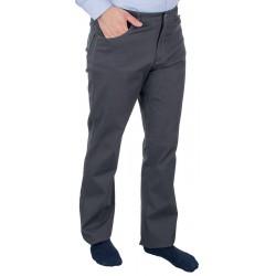 Szare spodnie bawełniane Lord R-20 niezwężane roz. 82–114 cm