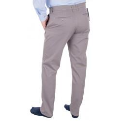Beżowo-szare spodnie chinos Lord R-103 niezwężane roz. 82–114 cm