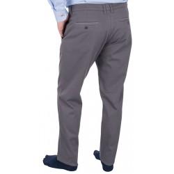 Szare spodnie chinos Lord R-104 niezwężane bawełniane roz. 82–114 cm